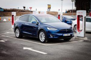 Tesla Model X supercharging