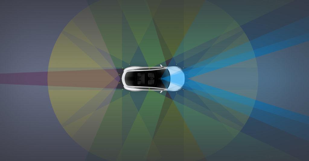 Tesla Autopilot 2 sensors