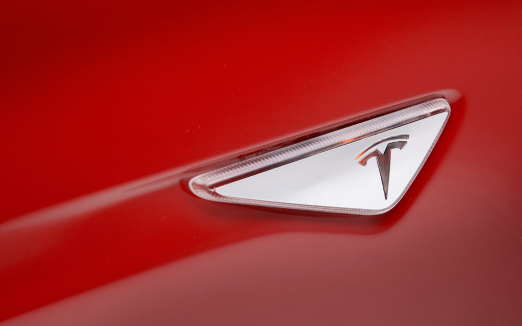 Tesla AP1 turn indicator badge