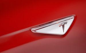 Tesla AP1 turn indicator badge
