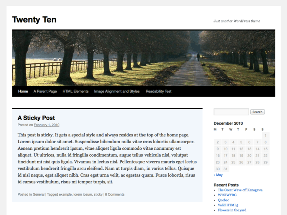 WordPress Twenty Ten